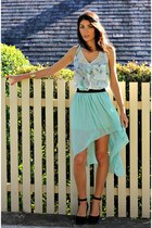mint green tail skirt