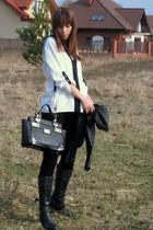 Aldo boots - new look jacket - River Island bag - Mango pants - Zara blouse