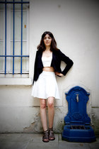 H&M jacket - Zara top - H&M skirt - Primark sandals - swarovski earrings