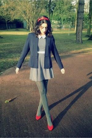 H&M blazer - TFNCLondon dress - H&M tights - H&M heels