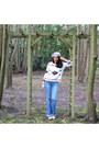 Kookai-jeans-wool-lafayette-collection-hat-primark-sweater