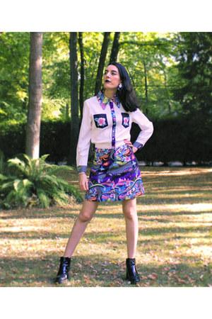 Zara boots - Noracora skirt - Noracora blouse