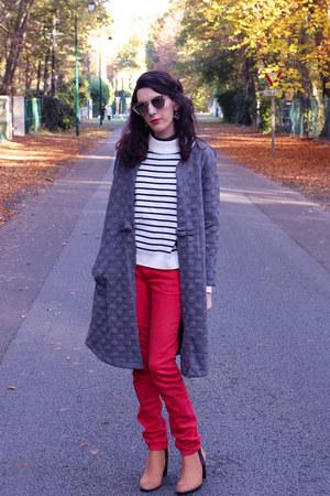 zaful coat - zaful sweater - zaful glasses - zaful necklace
