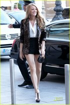 bronze sequined Chanel blazer - volnay sandals Christian Louboutin shoes