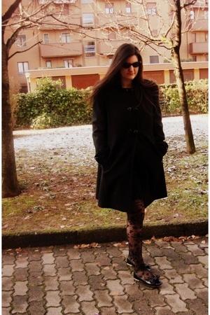 sunglasses - gianfranco ferr coat - H&M socks - shoes