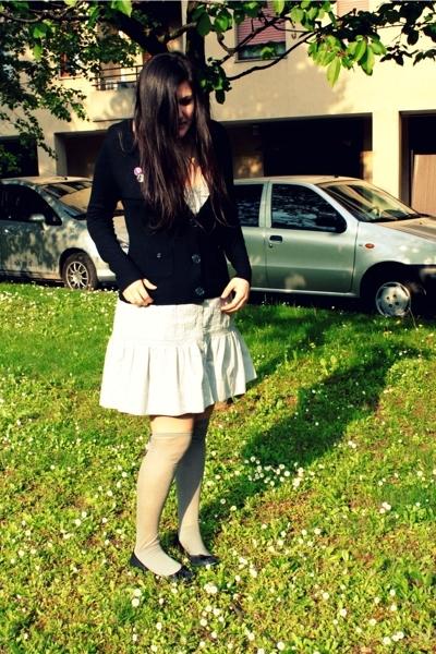 H&M dress - H&M sweater - Calzedonia socks - shoes