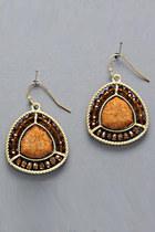 yellow earrings tricisny earrings