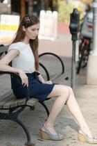 denim shoes sam edelman wedges - Look dress - tricis New York accessories