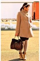 beige wild diva boots - beige Forever 21 coat - Charlotte Russe purse