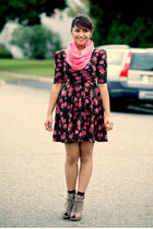 joyce leslie dress - random brand scarf - Forever 21 shoes