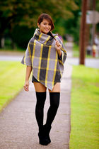 checkered cape joyce leslie coat - coat