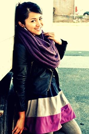 H&M scarf - Forever 21 jacket - Forever 21 dress