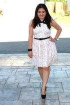 pink Rodarte for Target dress - black unknown belt - black Forever 21 accessorie