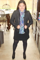 black Marshalls jacket - black Old Navy dress - black Express tights - black BCB