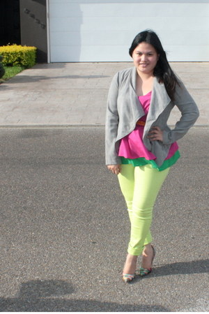 lime green Macys jeans