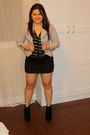 Silver-marshalls-cardigan-black-tj-maxx-skirt-gray-marshalls-jacket-black-