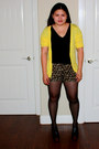 Black-max-rave-skirt-black-banana-republic-blouse-yellow-max-rave-cardigan-
