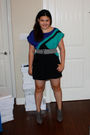 Blue-forever-21-dress-gray-forever-21-belt-purple-jessica-simpson-shoes