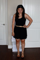 black Charlotte Russe shorts - beige Forever 21 belt - brown Bakers shoes