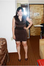 Brown-koutoure-by-kimora-lee-dress-silver-steve-madden-shoes-silver-forever-