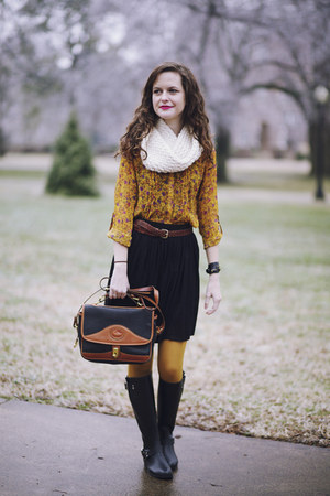 black rain Steve Madden boots - mustard ribbed Target tights