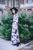 black chelsea TBA Shoes boots - white floral maxi free people dress