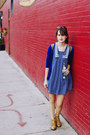 Camel-leather-ecote-boots-blue-sailor-dress-army-green-backpack-nollie-bag