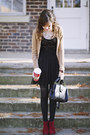 Brick-red-ankle-oneill-boots-black-lace-bebop-dress