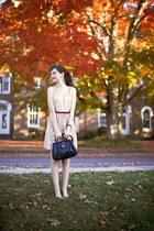 eggshell sequined Forever 21 dress - black Target purse