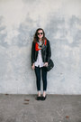 Navy-skinny-imogene-willie-jeans-black-leather-urban-outfitters-jacket