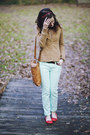 Aquamarine-skinny-j-crew-jeans-bronze-leather-purse-camel-polka-dot-blouse