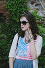 White-american-flag-chicwish-t-shirt-black-oversized-sunglasses