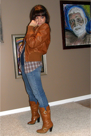 Target jacket - American Eagle shirt - victorias secret pink shirt - Levis jeans