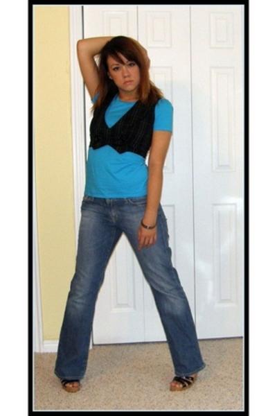 vest - Express t-shirt - Express jeans - shoes