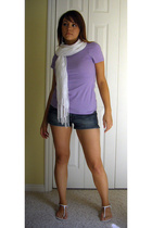 forever 21 scarf - Express t-shirt - Express shorts - Express shoes