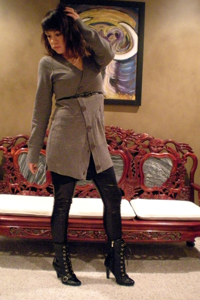Target sweater - American Apparel dress - Target pants - GoJane boots - Express