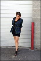 thrifted shirt - aa dress - Express belt - Nine West shoes