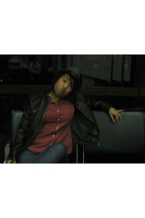 Urban Outfitters jacket - Jcrew shirt - Levis jeans - Target hat