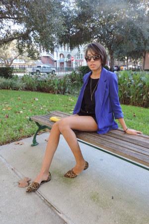 H&M blazer - crossbody Forever 21 bag - H&M shorts