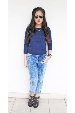 mom jeans Topshop jeans - Glassons hair accessory