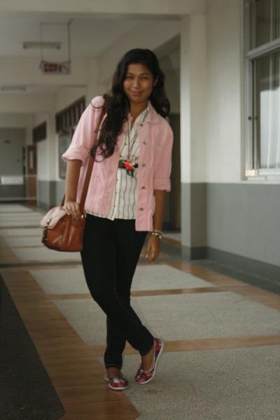 Kamiseta jacket - Zara Basics blouse - Lee pants