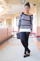black Topshop leggings - black Wallis blouse