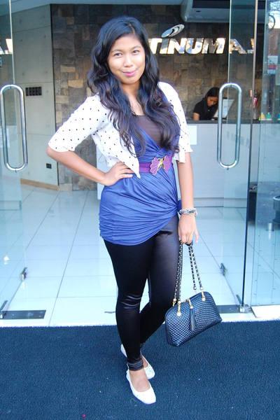 blue Sinequanone dress - black Topshop leggings
