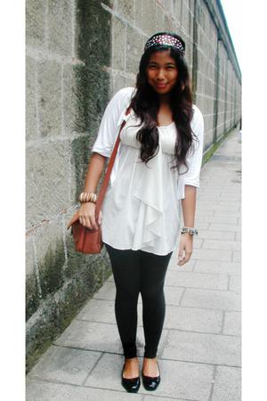 Sinequanone jacket - Jill Stuart blouse - Speedo leggings - Korean shoes - Broad