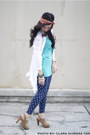 Navy-leggings-turquoise-blue-topshop-top-white-forever-21-top-beige-foreve