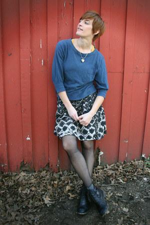 Zara boots - f21 sweater - Target skirt
