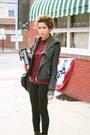 Dark-brown-sisley-cardigan-black-forever-21-jacket-black-rag-and-bone-leggin