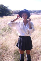 white vintage blouse - wren skirt