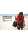 Orange-vintage-cardigan-green-zara-dress-fendi-bag