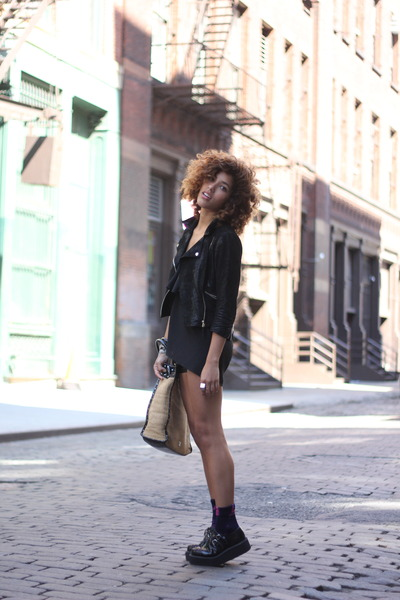 TUK shoes - Kolae dress - Topshop jacket